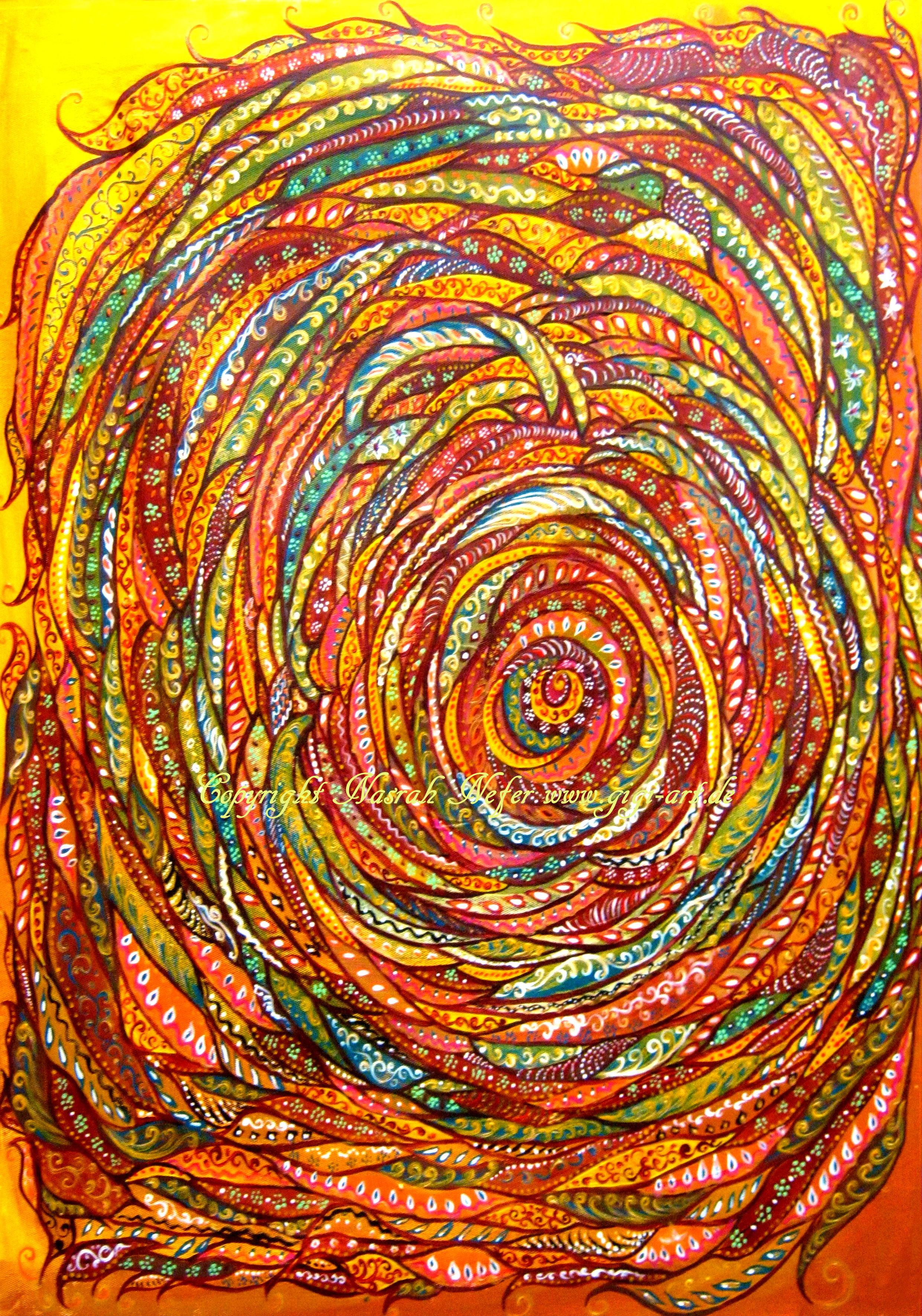 Mandalabyrinth 2012 40x60cm C