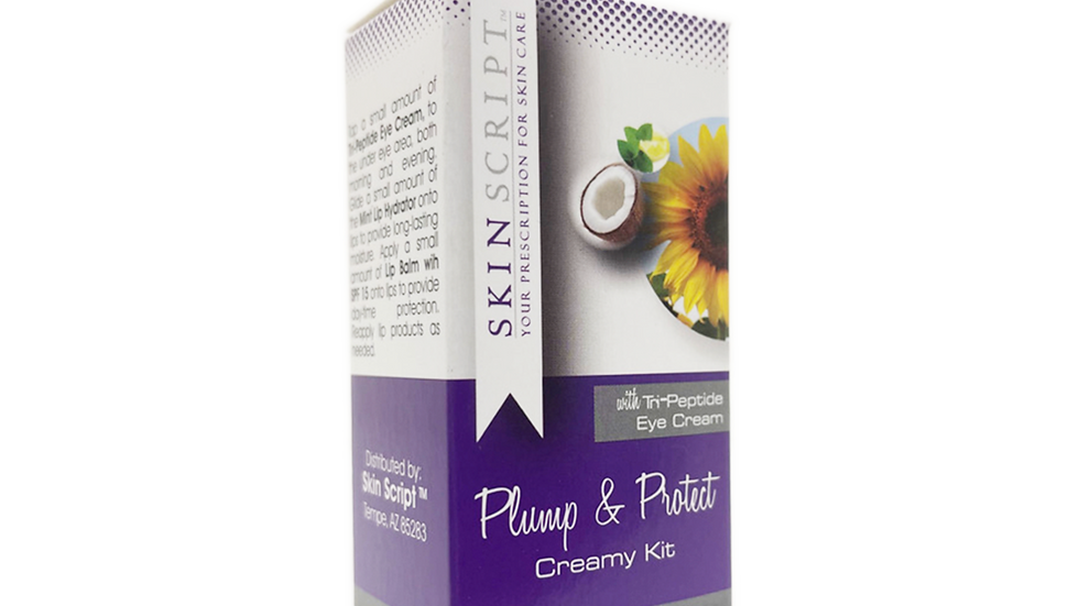 Skin Script Rx Plump & Protect Creamy Kit