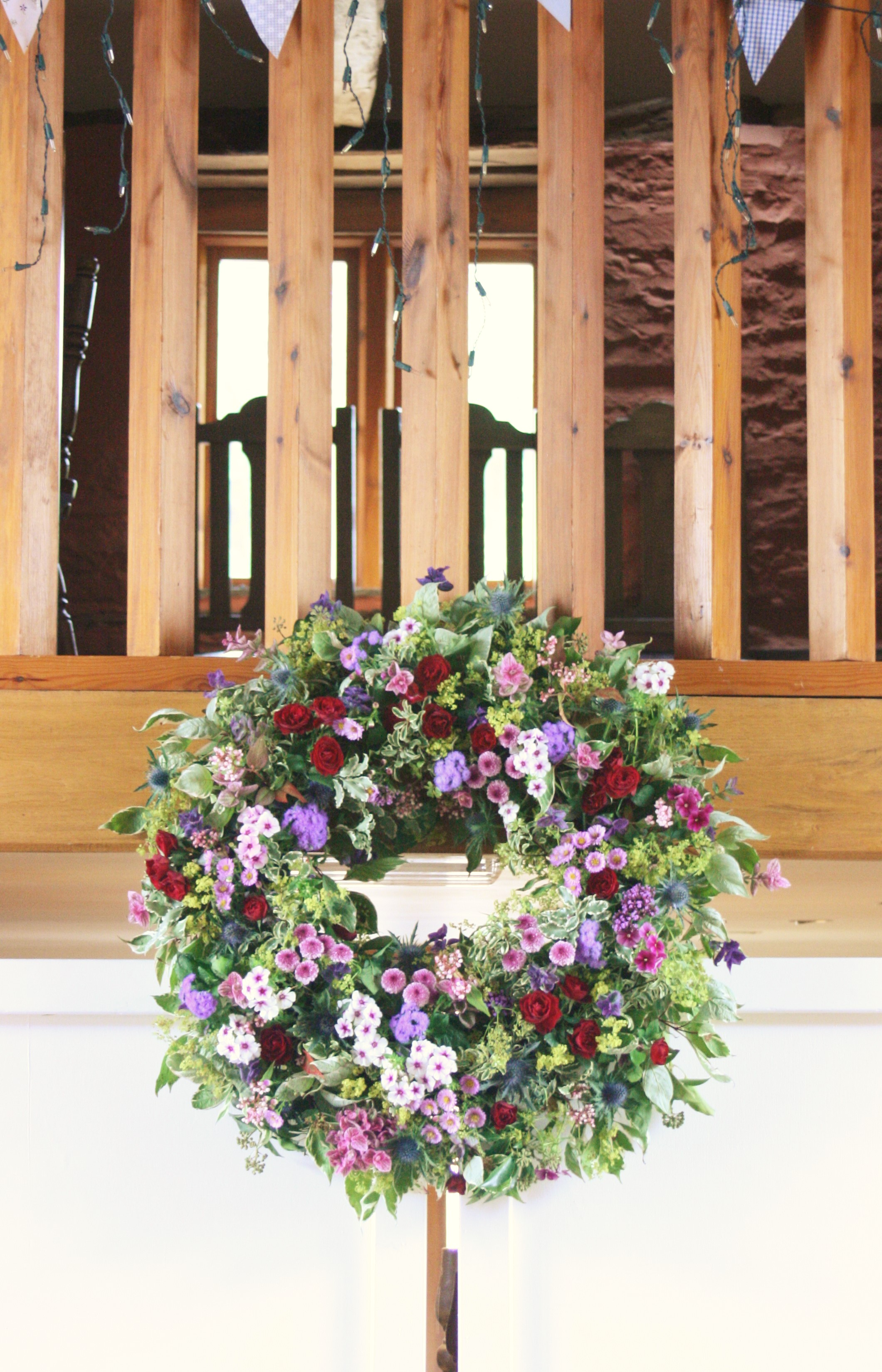 Wreath hanging
