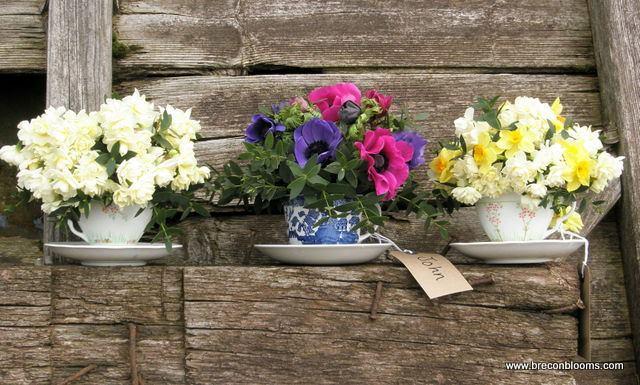 spring teacups