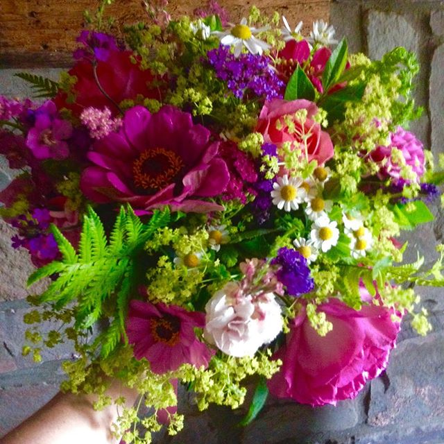 A recent wedding bouquet for a lovely br
