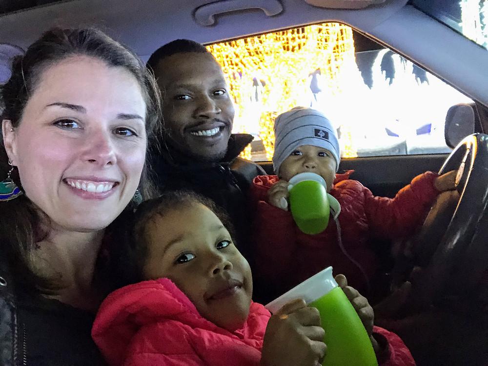 Marie-Elyse et sa famille à #IllumiCavalia