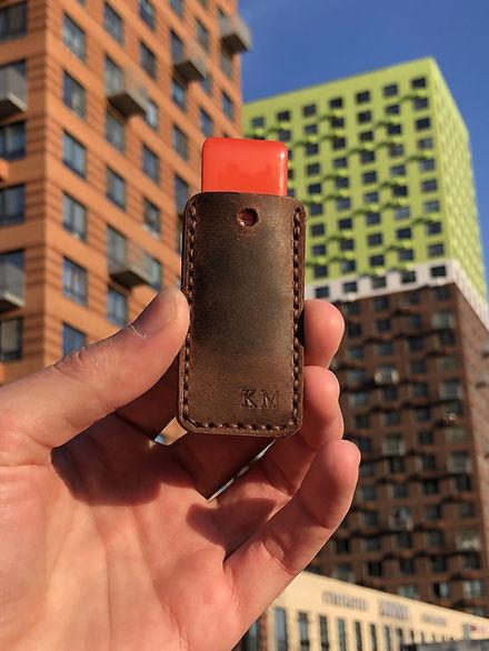 Кожаный чехол для магнитного ключа ПИК