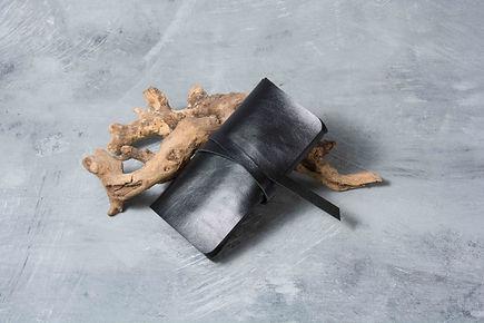 Кожаный кисет на завязке для самокруток с отделом под бумажки машинку фильтры