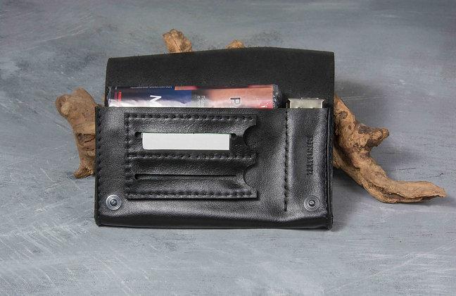 Черный кисет для самокруток macchina на 2 упаковки бумаги