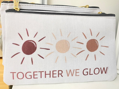 Together We Glow Zip Pouch