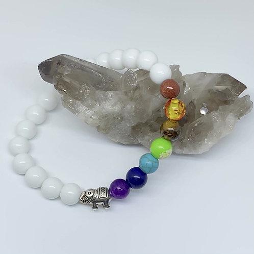 Balanced Chakras Elephant Bracelet