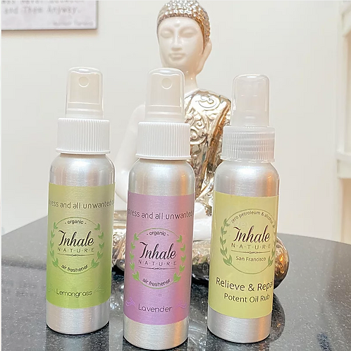 Organic Selfcare Set: Pain Relief and Essential Oil Home Mists