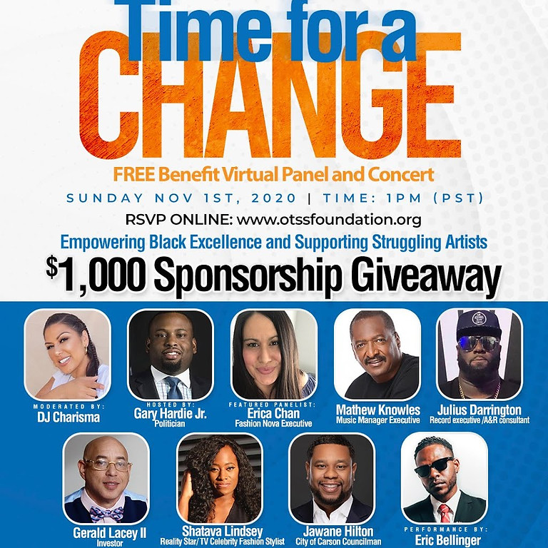 Time for a Change Virtual Conference and Benefit Concert