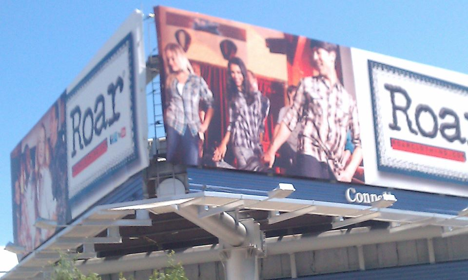 ROAR CLOTHING BILLBOARD
