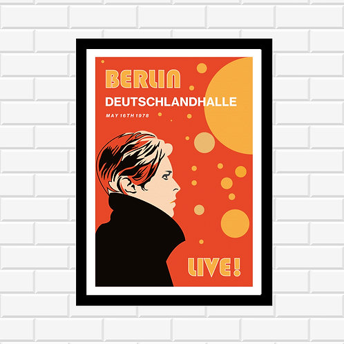 Bowie Berlin Concert Poster