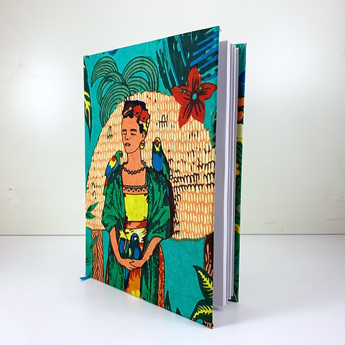 Frida Kahlo Diary 2021 Green week view