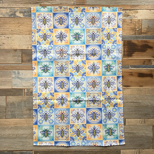 Bee Tile Tea Towel