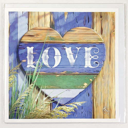'Beach Love' Valentine's Card