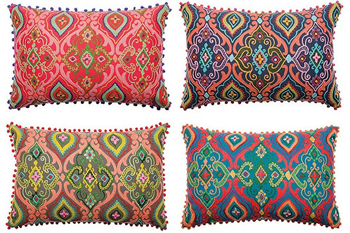 Embroidered Indian Cushion