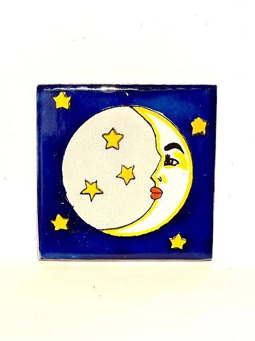 Mexican Tile Coaster Luna