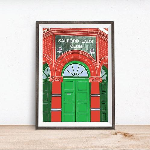 Salford Lads Club Art print - A4