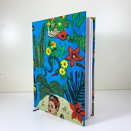 Frida Kahlo Diary 2021 Blue 3 day view