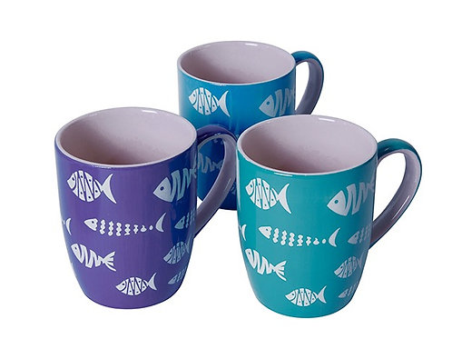 Fish pattern mugs