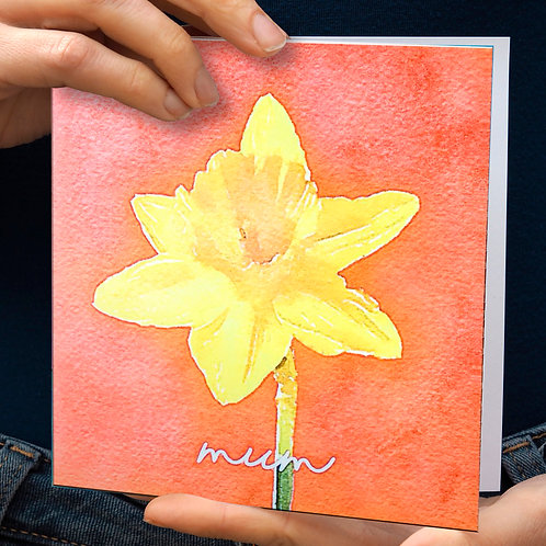 Daffodil Mother's Day Card
