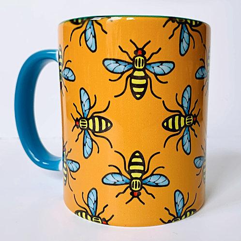 Manchester Bee Orange Mug