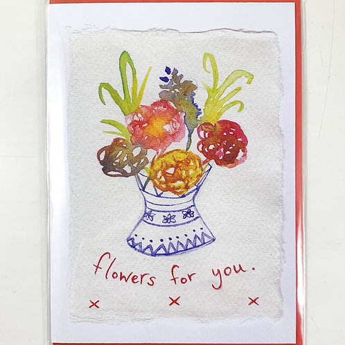 'Flowers For You' Valentine's Card