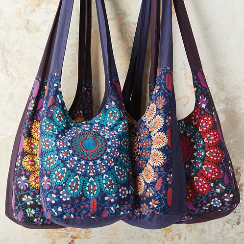 Saddhu peacock print cotton bag