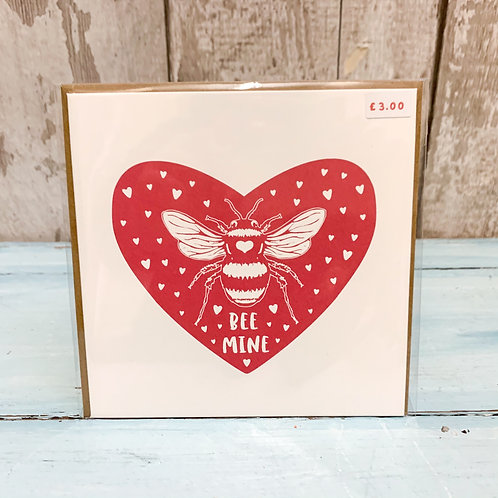 Red Bee Valentine's Card