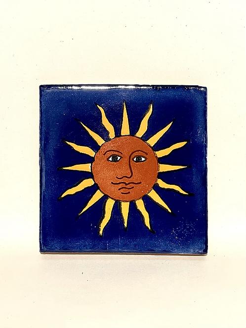 Mexican Tile Coaster The Sun