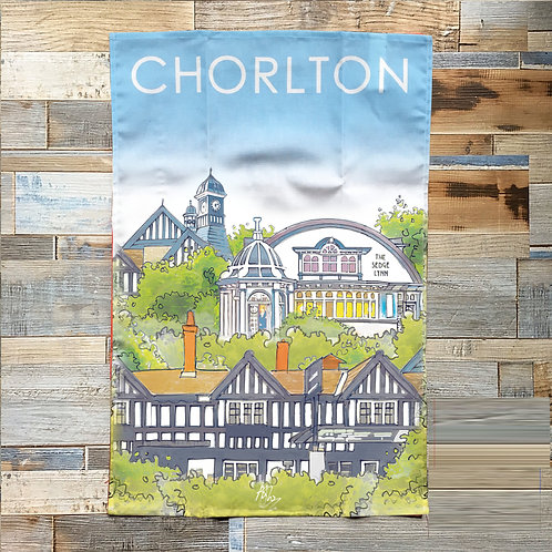 Chorlton Watercolour Tea Towel