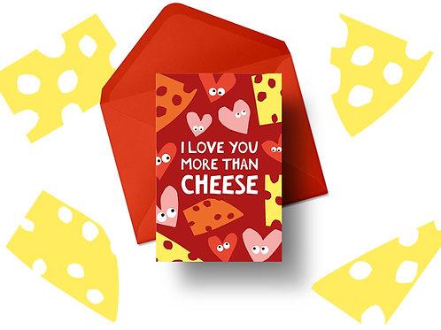 'Cheese' Valentine's Card
