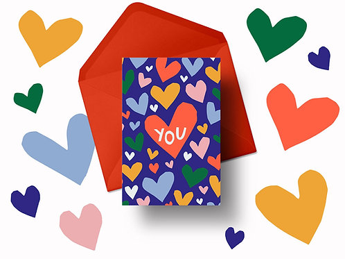 'Love YOU' Valentine's Card