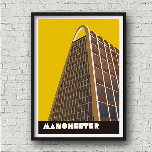 Manchester Toast Rack Art Print - A4