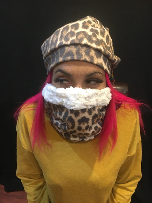 Snood and Beanie Leopard
