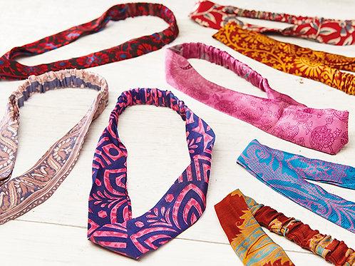 Recycled Sari Headbands