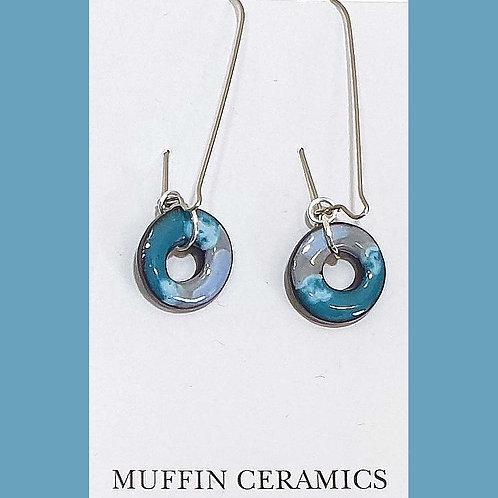 Blue Mix Drop Earrings