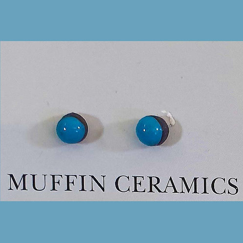 Blue Dot Porcelain Studs