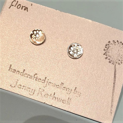 'Flora' Sterling Silver Studs