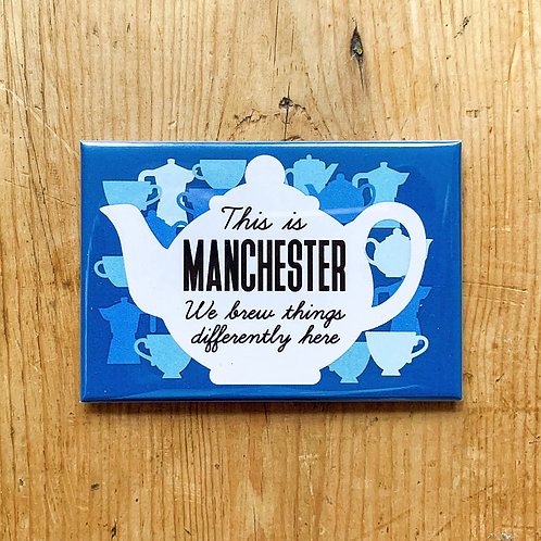 Manchester Brew Fridge Magnet