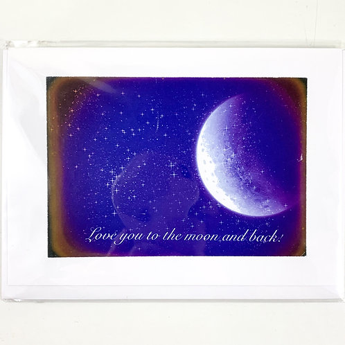 'Love you to the moon and back' Valentine's Card