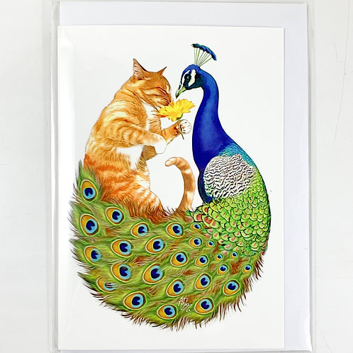 'The Peacock and the Pussycat' Valentine's Card