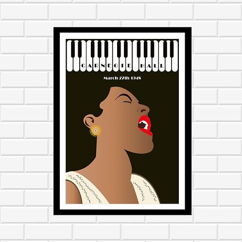 Billie Holiday Concert Poster