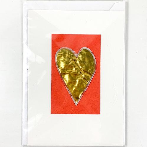 'Gold Heart' Valentine's Card