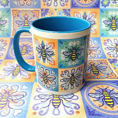 Bee Tile Mug