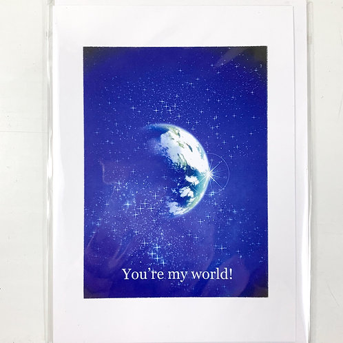 'You're My World' Valentine's Card