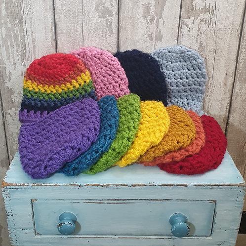 Chunky Hand Crochet Beanie Hat