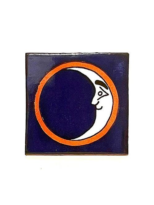 Mexican Tile Coaster Crescent Moon