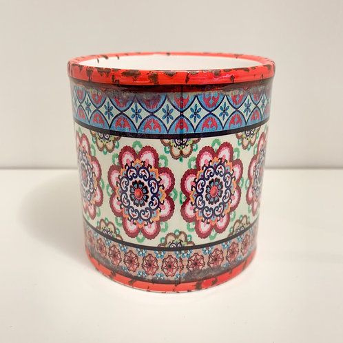 Mexican Planter Red and Blue
