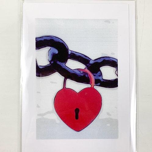 'Heart Lock' Valentine's Card