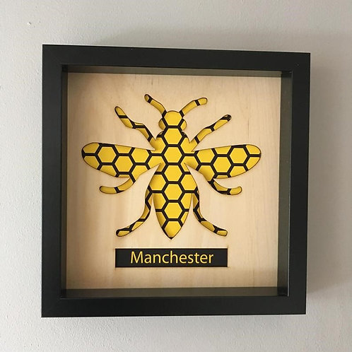 Manchester Honeycomb Bee unframed lasercut